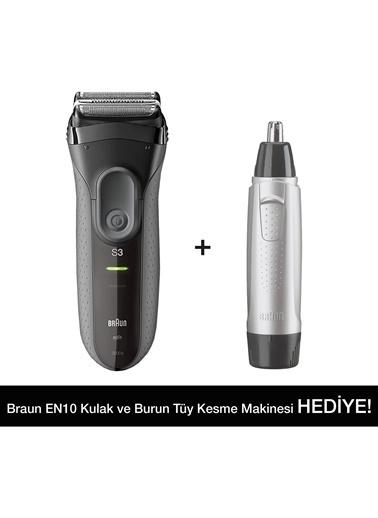 Braun 3 Serisi 3000VS Tıraş Makinesi + EN10 Kulak Burun Tüy Alma Makinesi Renkli